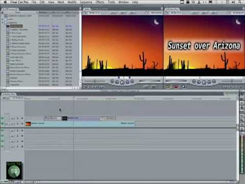 Final Cut Pro 7 Tutorial - Applying Cool Effects to Text