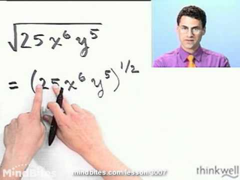 College Algebra: Radical Expressions w Variables