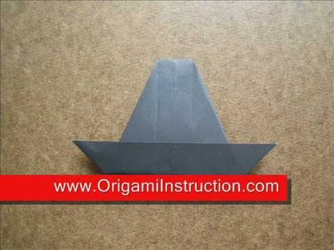 How to Fold Origami Witch Hat - OrigamiInstruction.com