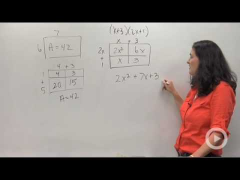 Algebra - Multiplying Polynomials using Area Models