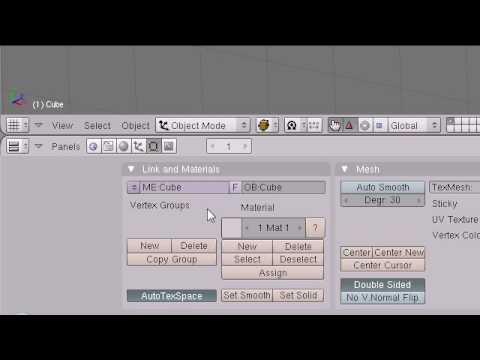 Blender 3D Tutorial - 2 - The Interface
