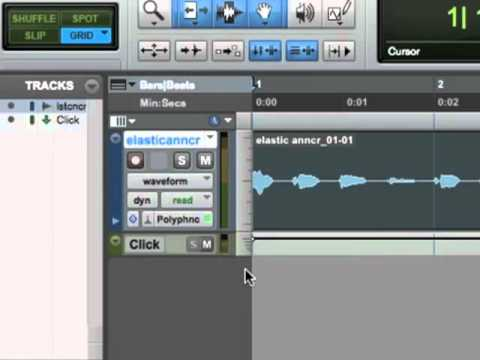 Pro Tools 9 Tutorial - Elastic Audio On A Voice Track