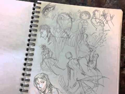 Killer Tina's Sketchbook Drawings