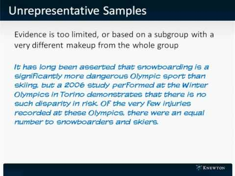 GMAT Prep - Verbal - Critical Reasoning - Unrepresentative Samples by Knewton