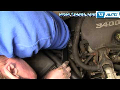How To Install Replace Engine Serpentine Belt Chevy Venture Montana 3.4L 97-98 1AAuto.com