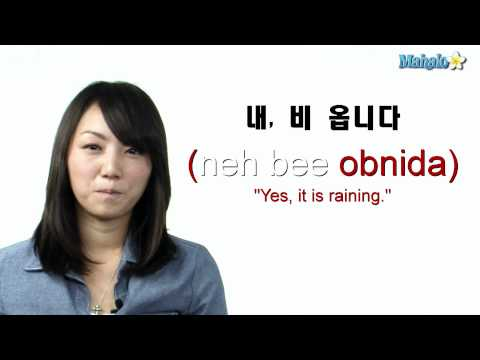 "How to Ask ""Is it raining?"" in Korean"