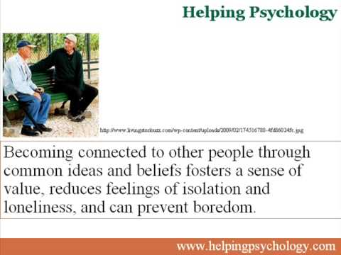 Social groups Improve Mental health