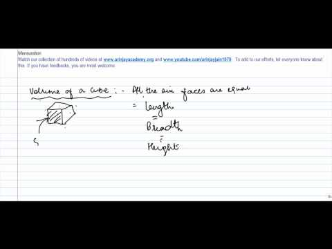 CBSE Class VIII, ICSE Class VIII -  Volume of a Cube