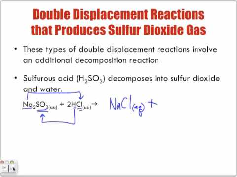 Reactions of Aqueous Solutions Forming Sulfur Dioxide Gas