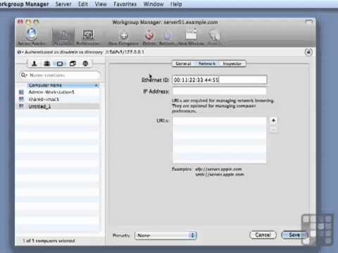 Create Computer Groups - Apple Mac 10.6 Server Tutorial