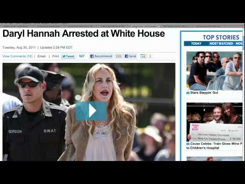 Daryl Hannah Arrested at White House