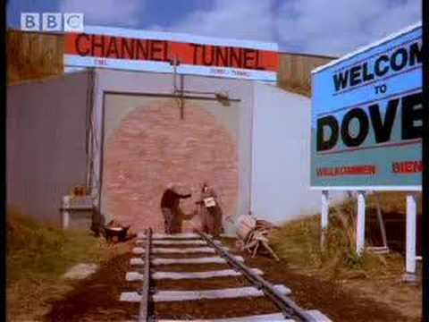 Channel tunnel sketch - Harry Enfield and Chums - BBC comedy