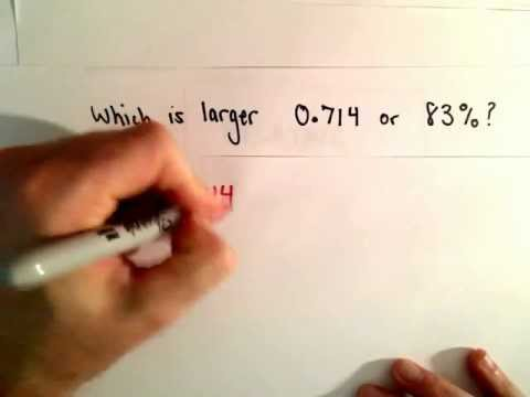 Comparing a Decimal and a Percent : Which is Larger?