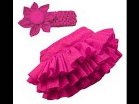 how to make cute baby rufful skirt