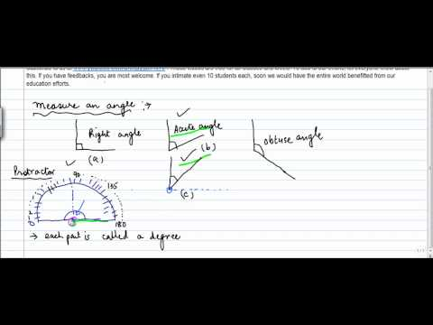 421.$ CBSE Class VI Maths,  ICSE Class VI Maths -  Measuring an Angle