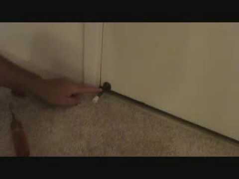 Installing a door bumper