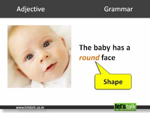 English Grammar - Adjective. www.letstalk.co.in.