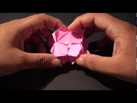 Origami Daily - 032: Picture Frame Flower Table (By Suhas) - TCGames [HD]