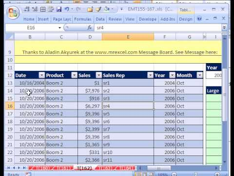Excel Magic Trick # 162: LARGE IF & INDEX w 4 Criteria