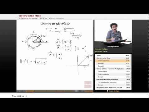 Linear Algebra: Vectors in the Plane
