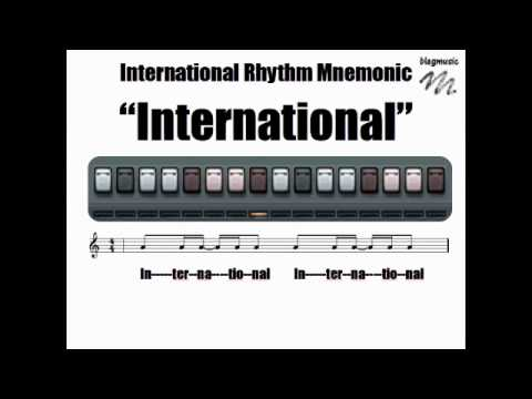 International Rhythm Mnemonic Internalization Video.