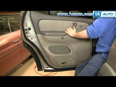 How to Install Replace Remove Rear Door Panel Toyota Sequoia 01-04 1AAuto.com