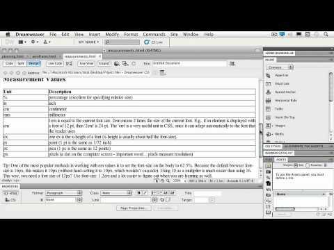 Total Training for Adobe Dreamweaver CS5: Ch2 L2 Sizing & Measurements