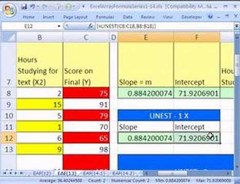 Excel Array Formula Series #13: LINEST function