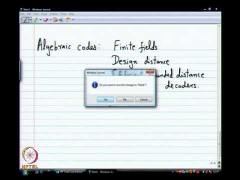 Mod-01 Lec-17 Coded Modulation and Soft Decision Decoding