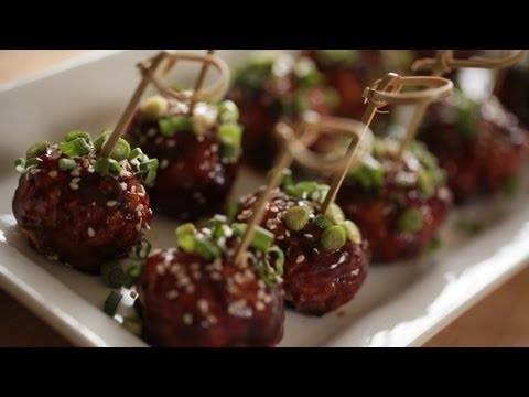 Recipe: Asian Chicken Meatballs Appetizer (How to Make) || Kin Eats