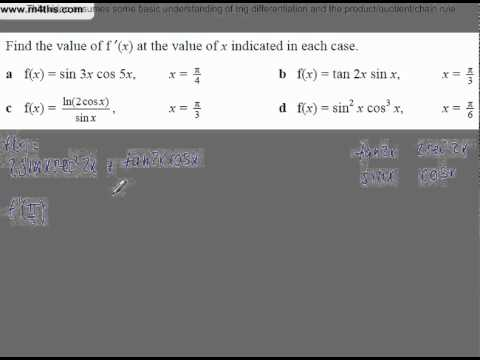 (2) Harder Trig Core 3 and 4 Differentiation Playlist (product of tan2x and sinx)