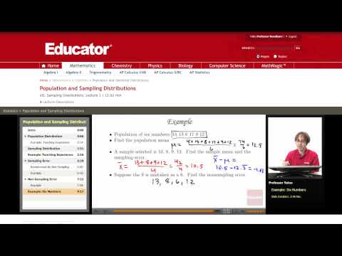 Statistics: Population and Sampling Distributions