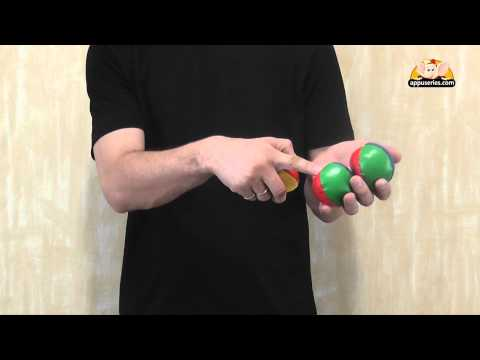Basic Juggling Trick - Using Three Balls with Two Hands