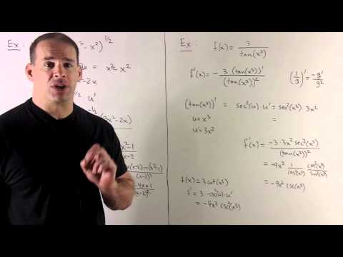 Example of Chain Rule 1 - Basic Examples