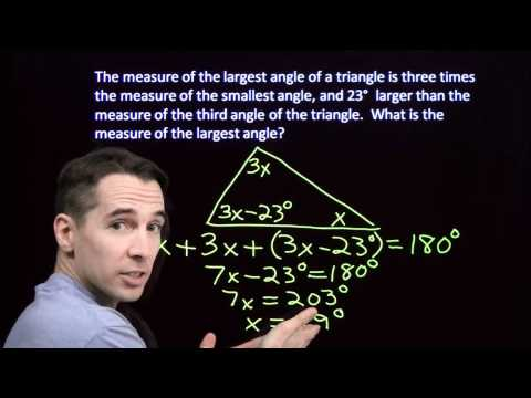 Art of Problem Solving: Angles in a Triangle Part 2