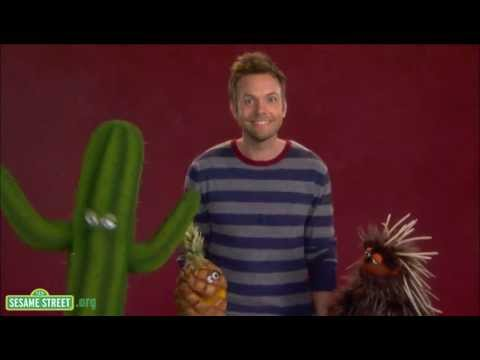 "Sesame Street: Joel McHale demonstrates the word ""Prickly."""