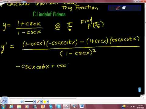 AP Calculus AB Quotient Rule on Trig Functions