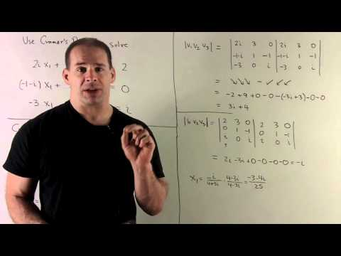 Cramer's Rule over the Complex Numbers