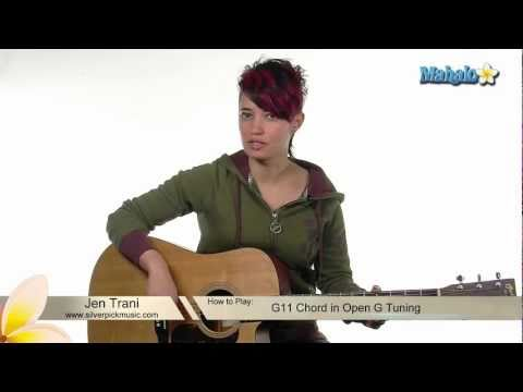 How to Play G11 Chord in Open G Tuning on Guitar
