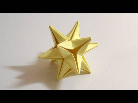 Origami Omega Star (Very good as a Christmas decoration ornament!)