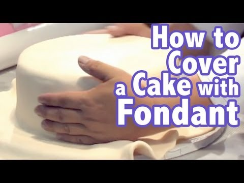 How to cover a cake with Rolled Fondant: FondX | Cake Tutorials
