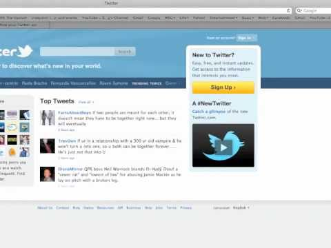 Twitter tutorial 1: How to sign up, follow someone and send a tweet