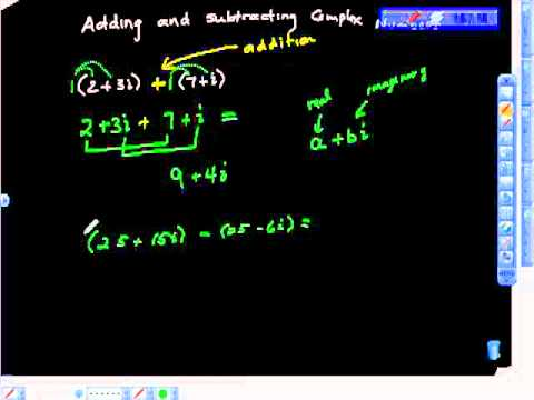 Add and Subtract Complex Numbers Algebra