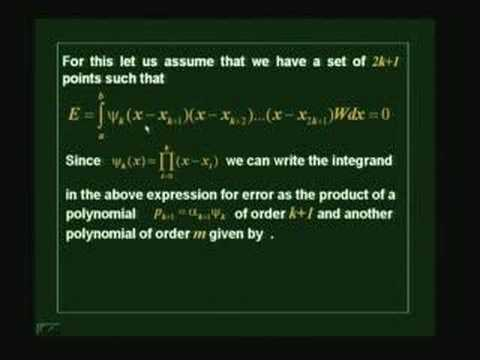 Lecture 29 - Gaussian Rules