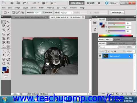 Photoshop CS5 Tutorial The Marquee Tool Adobe Training Lesson 7.3