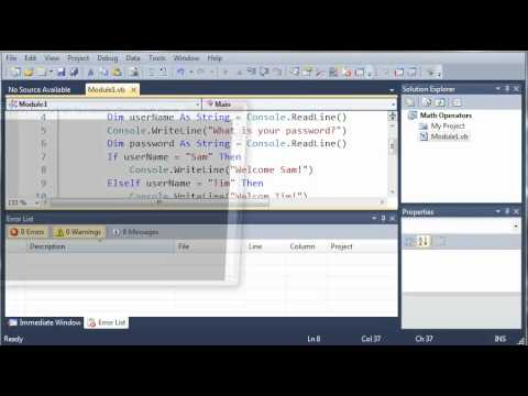 Visual Basic Tutorial - 14 - Else If And Else