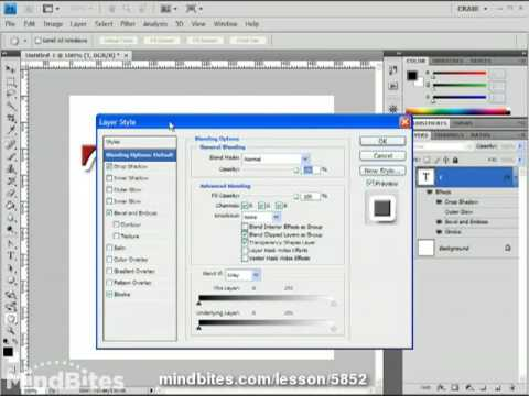Intro to Photoshop CS4 Lesson 26: Advanced Styles