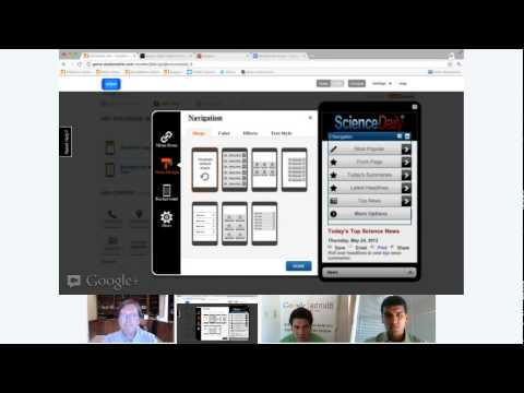 Hangout: Learn how to build a mobile site in minutes