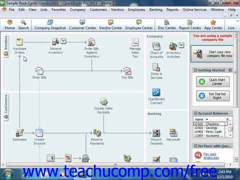 QuickBooks 2011 Tutorial Closing Company Files Intuit Training Lesson 2.12