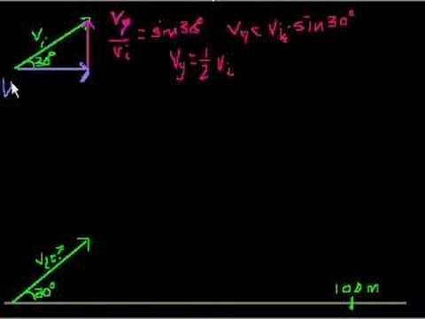 2 dimensional projectile motion part 4